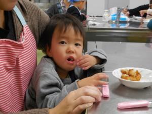 一緒に作って、一緒に食べて…大満足!(^_^)v