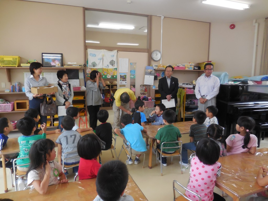 ようこそ、附属幼稚園に(^^)