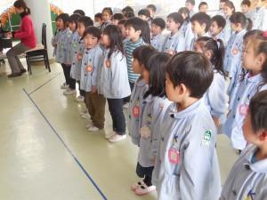 幼稚園でもみんなでお歌を練習中です♪