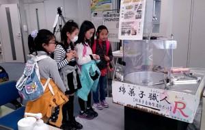なんと、綿菓子機ロボットも!(^o^)