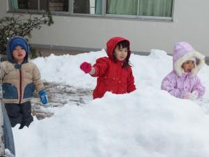 体も隠れそうな雪…大人だと1m位積もった感じでしょうね