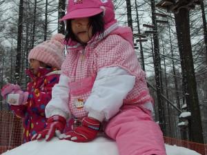雪山に登頂成功!(^o^)