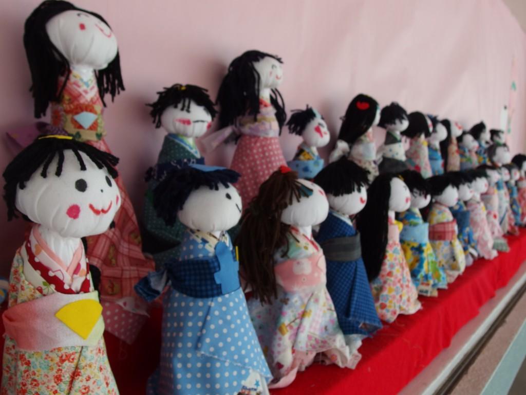 出来上がったひな人形達(^^)見てると癒やされます♪