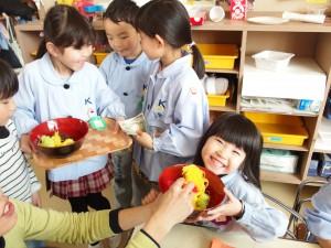 小さい組さんにも「どうぞ♪」の手作りラーメン(^^)