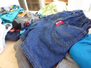 精一杯遊んだ後…これから洗濯待ちのお洋服達です(^^)