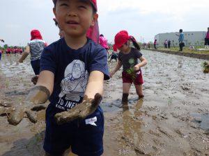 """泥だらけの手が""""仕事""""をした証拠(^^)"""