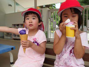 色んな味のアイスだよ♪美味しいね!(^o^)